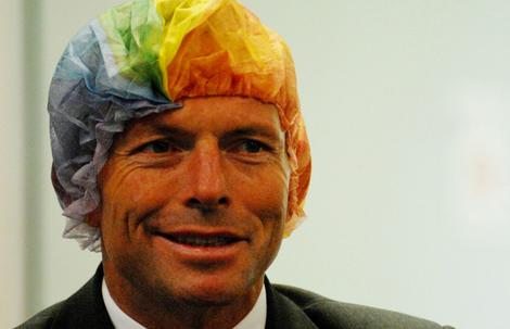 Image result for tony abbott as the tea lady