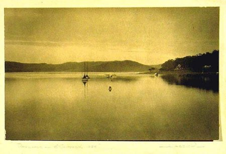 Pittwater, just north of Sydney, September 1928