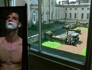 Me shaving at Brideshead Castle, October 1923. (Warning: this post may contain things that aren't strictly true.)