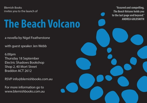 The Beach Volcano - launch invitation - 18 September 2014
