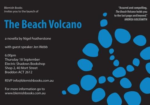 The Beach Volcano - launch invitation - 18 September 2014